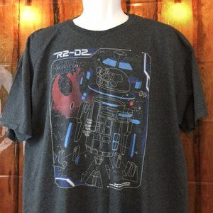 Star Wars R2-D2 Men's T-Shirt Size XL